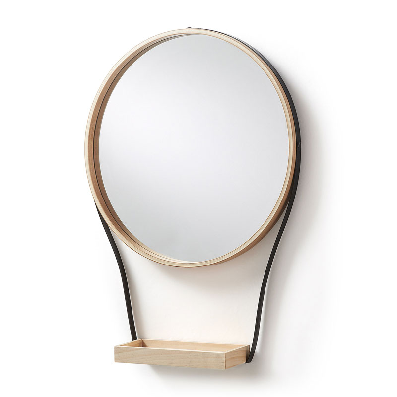 Wandspiegel met klein plankje