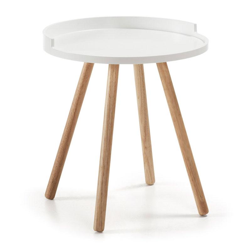 Wit tafeltje met opstaande rand