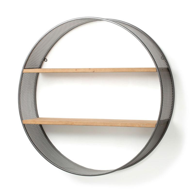Wandkastje van hout en metaal