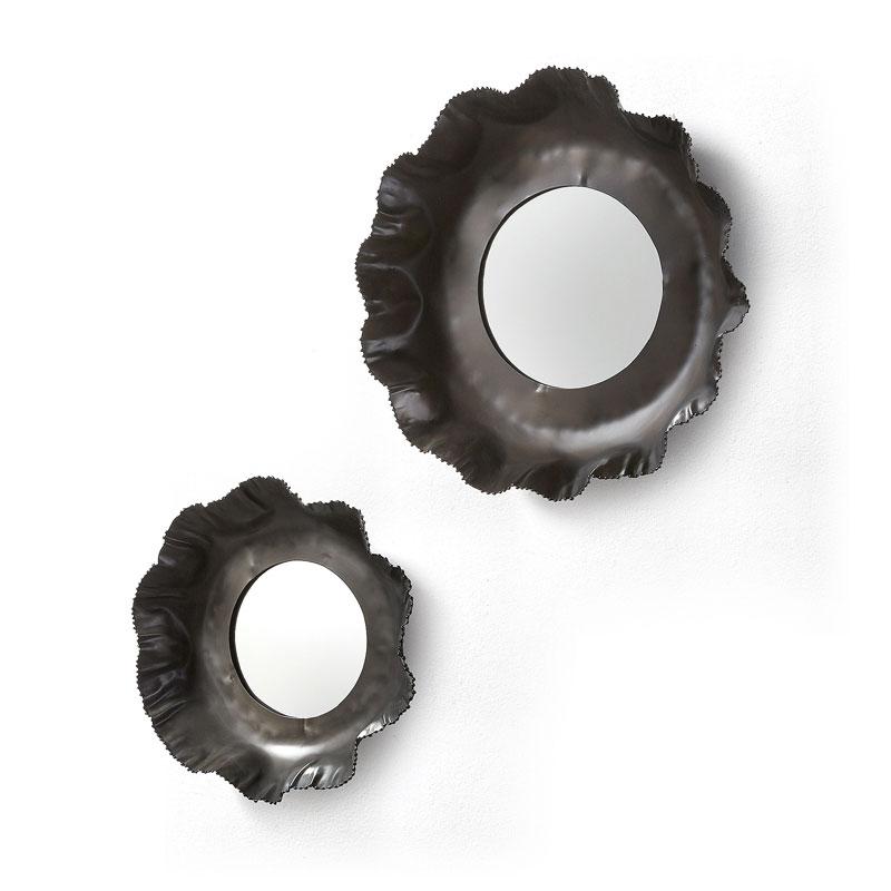 Set van metalen wandspiegels