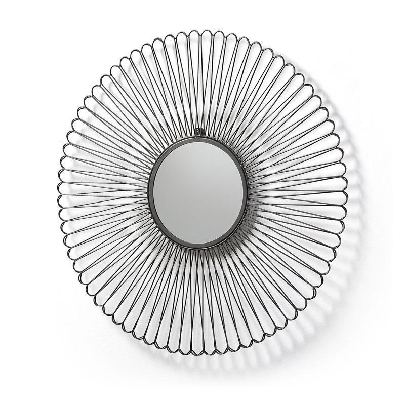 Speelse spiegel met rond frame