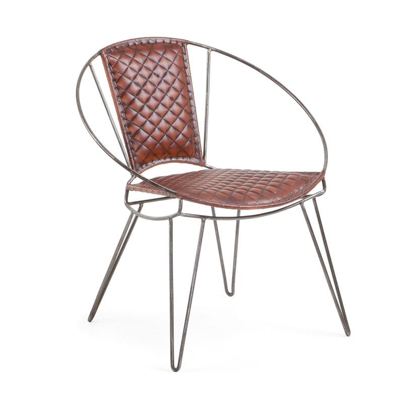 Vintage stoel van leder
