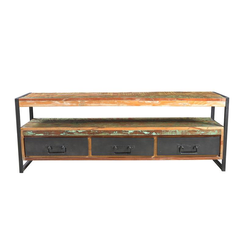 Meerkleurig TV meubel van hout