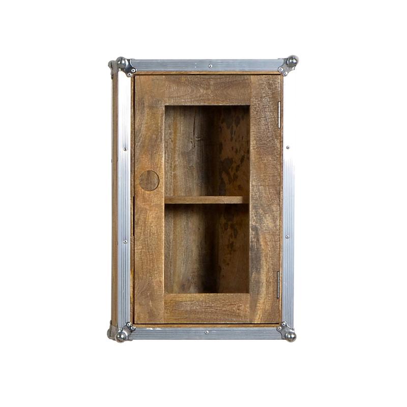 Industriele vitrinekast met metalen frame