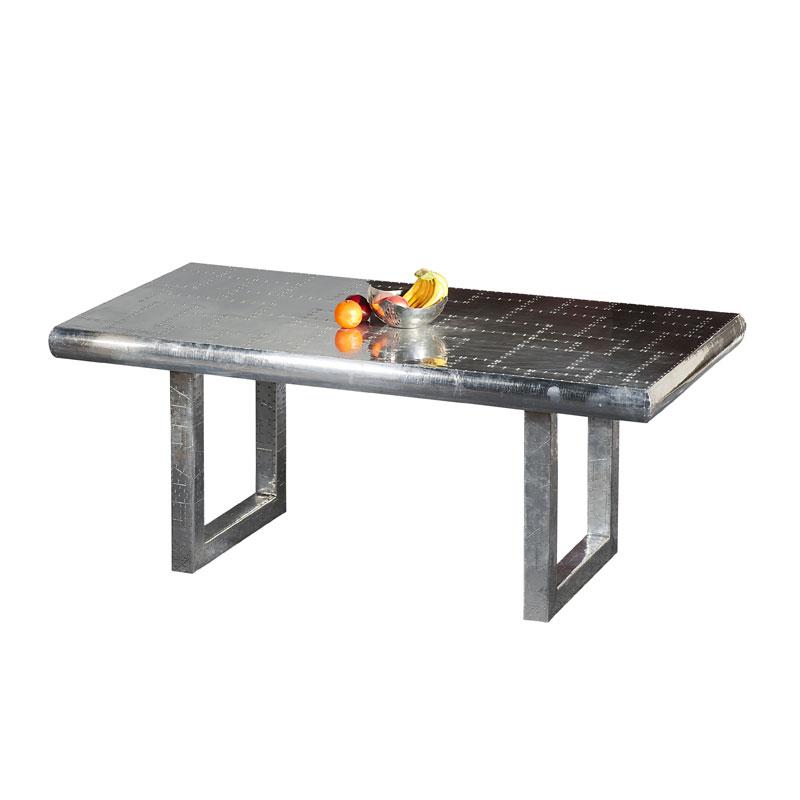 Stijlvolle aluminium salontafel industrieel