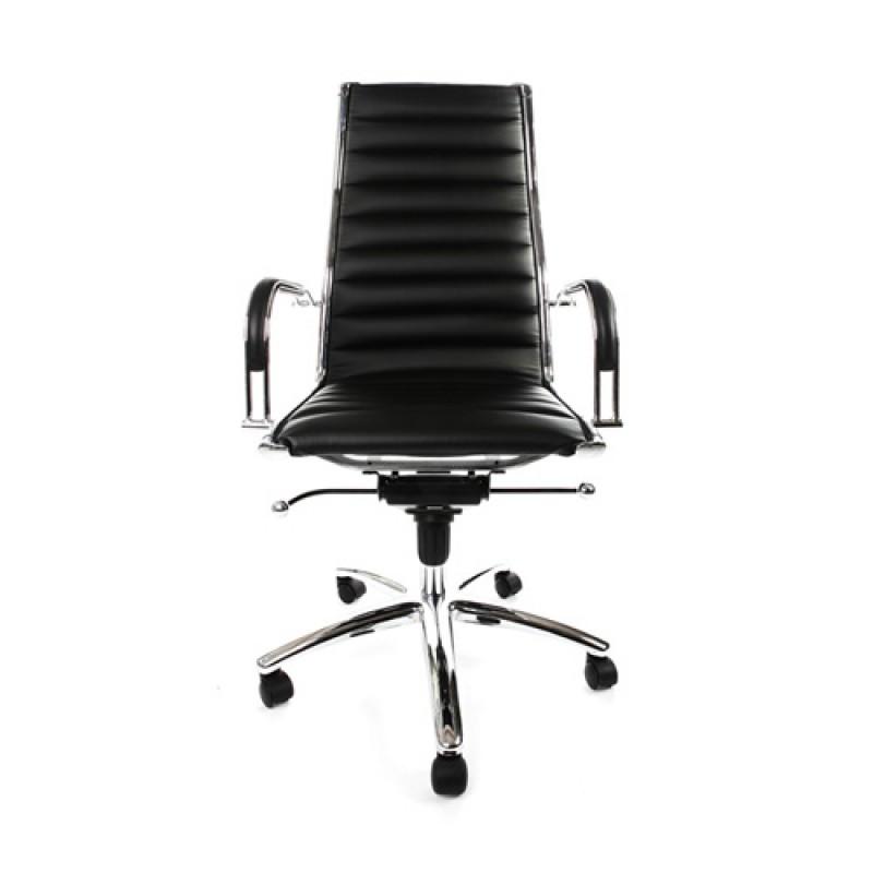 Design bureaustoel met hoge rugleuning