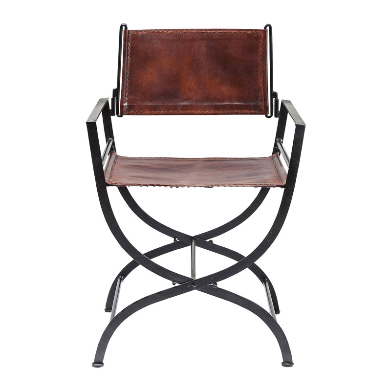 Leren opvouw stoel
