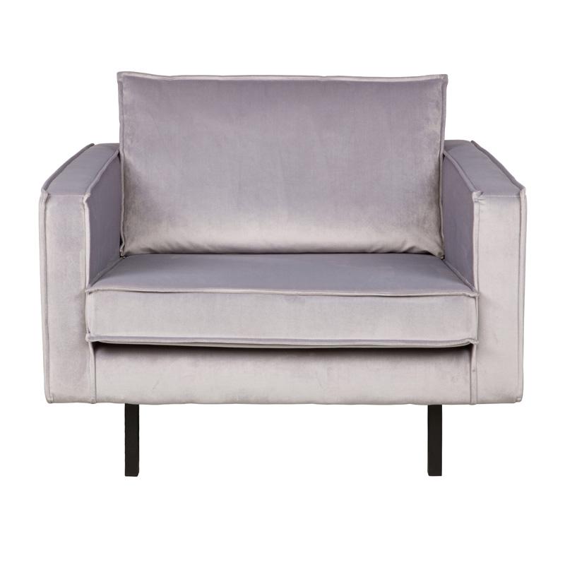 Moderne velvet fauteuil