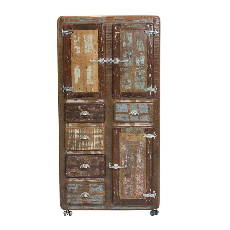 Vintage opbergkast van sloophout
