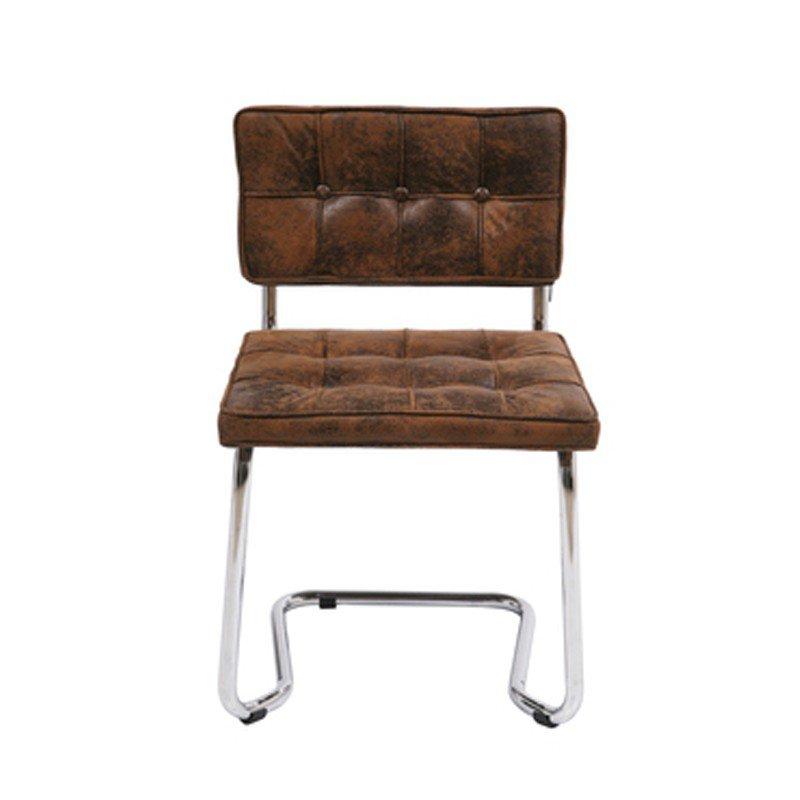 Designstoel vintage bruin