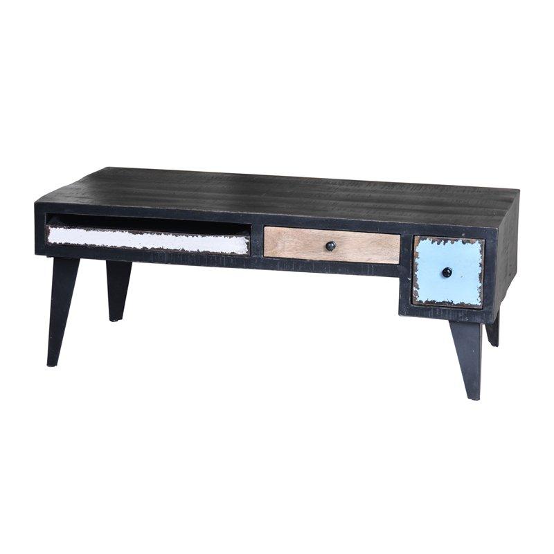 Retro salontafel van hout