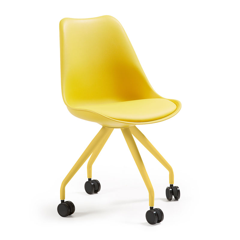 Retro stoel geel
