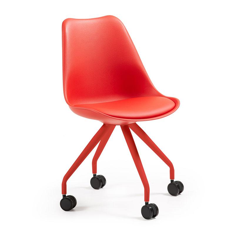 Retro stoel rood