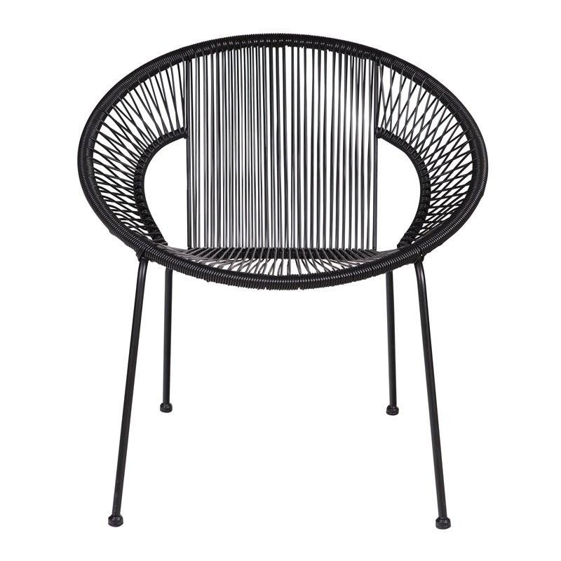 Retro zwarte stoel