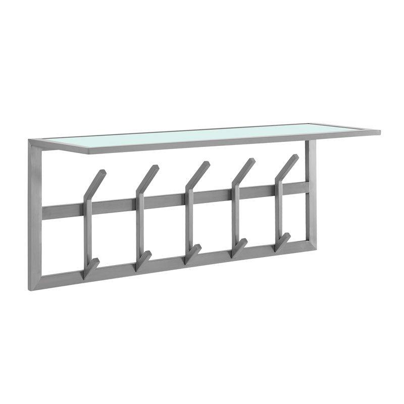 Design kapstok van RVS en matglas