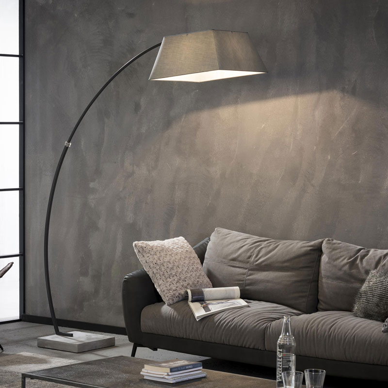 Grijze booglamp vierkant
