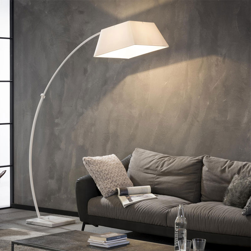 Witte booglamp vierkant
