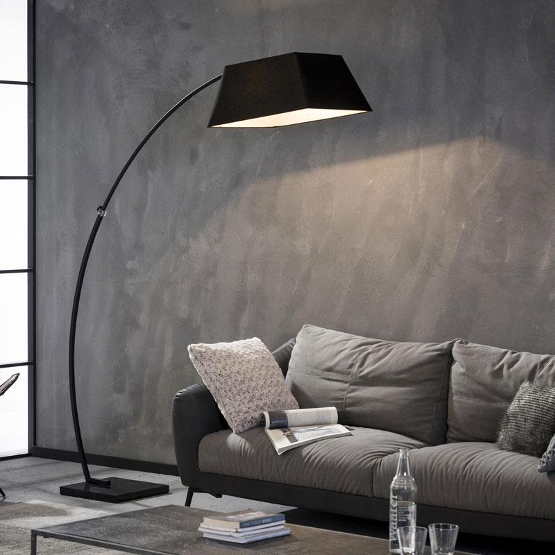 Zwarte booglamp vierkant