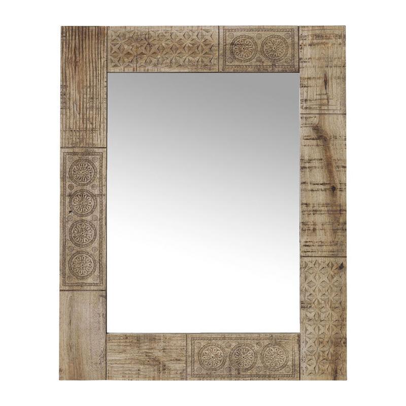 Spiegel met mangohout
