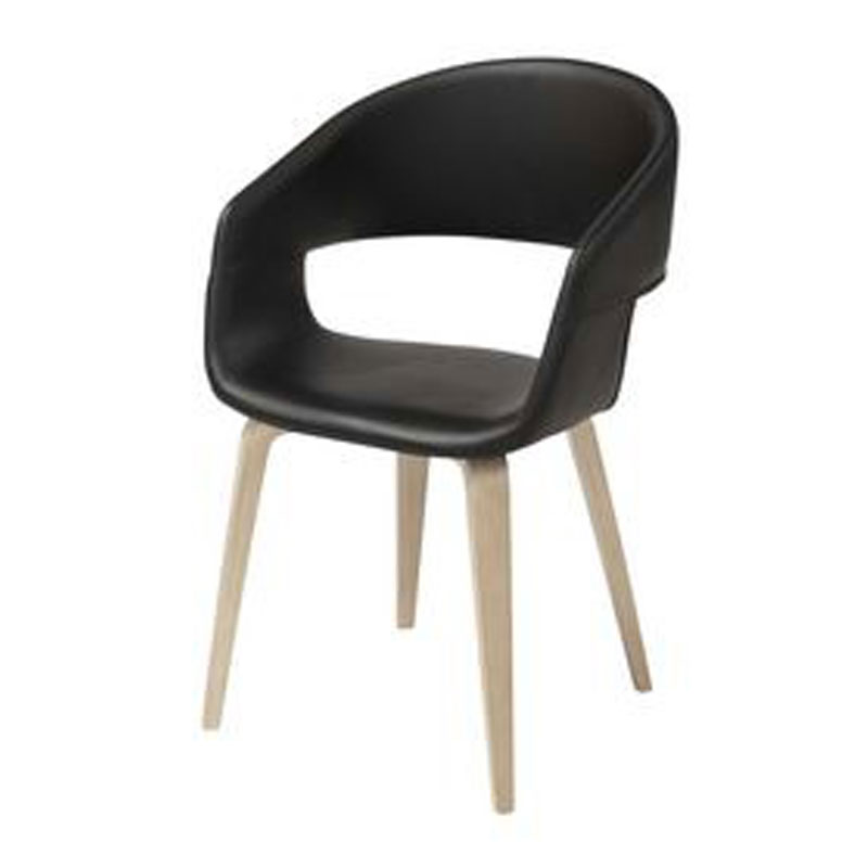 Design stoel leer kopen online internetwinkel for Eetkamerstoel hout met leer