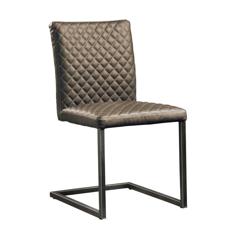 Bruine kleur stoel zonder armleuningen