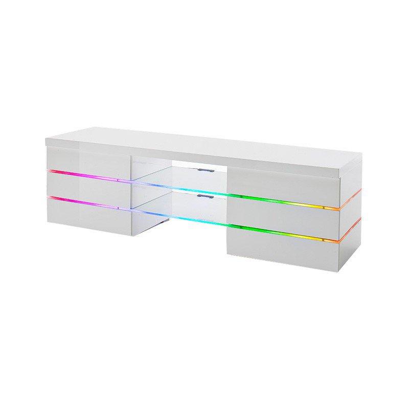 Design tv meubel hoogglans wit met LED