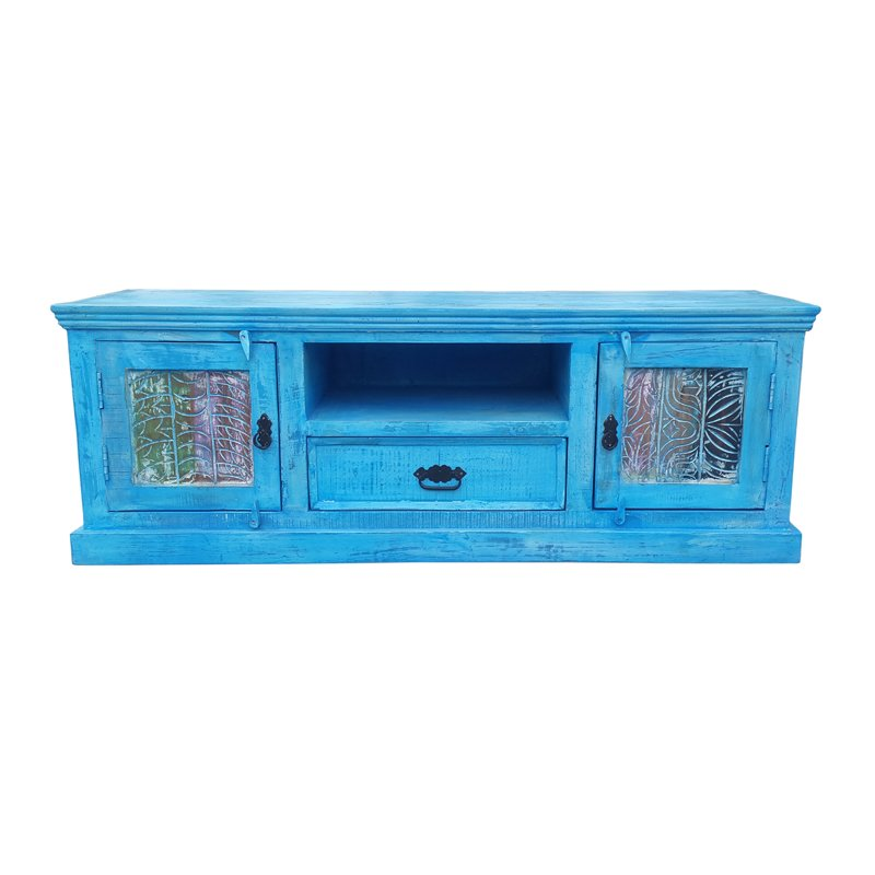 Authentiek blauw tv meubel India