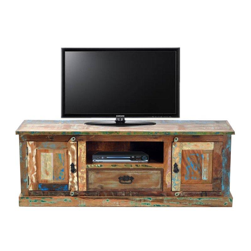 Authentiek sloophouten tv-meubel