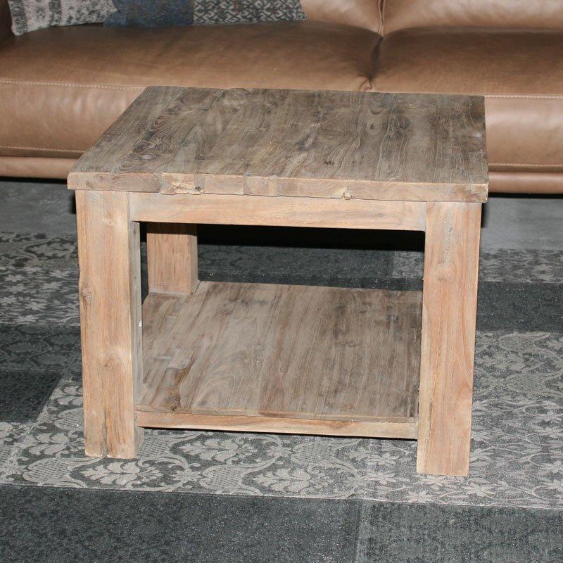 Vierkante salontafel hout