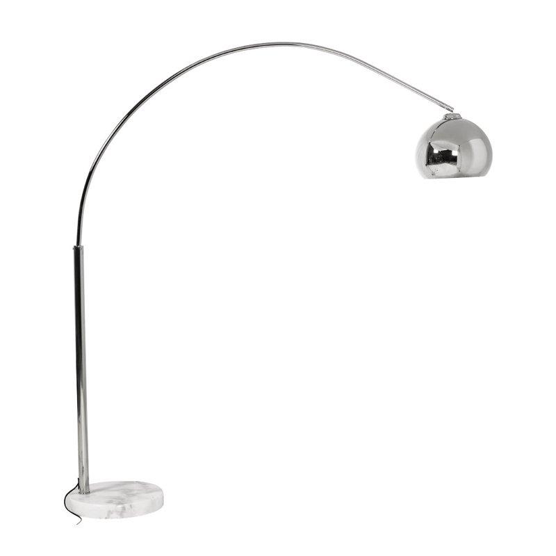 Design booglamp chroom met marmeren voet