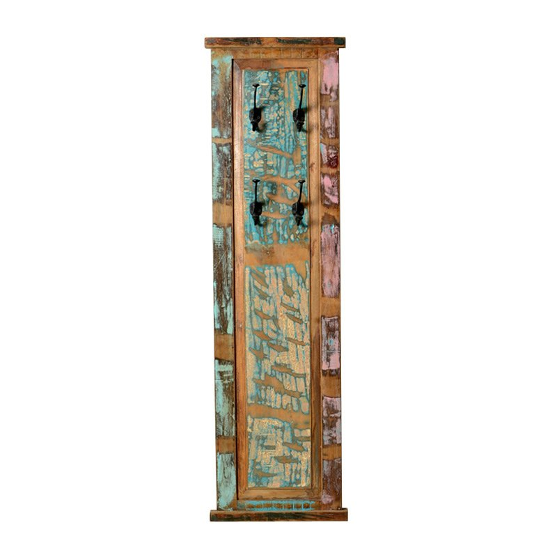 Authentieke wandkapstok van sloophout