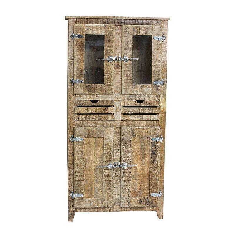 Landelijke wandkast van hout