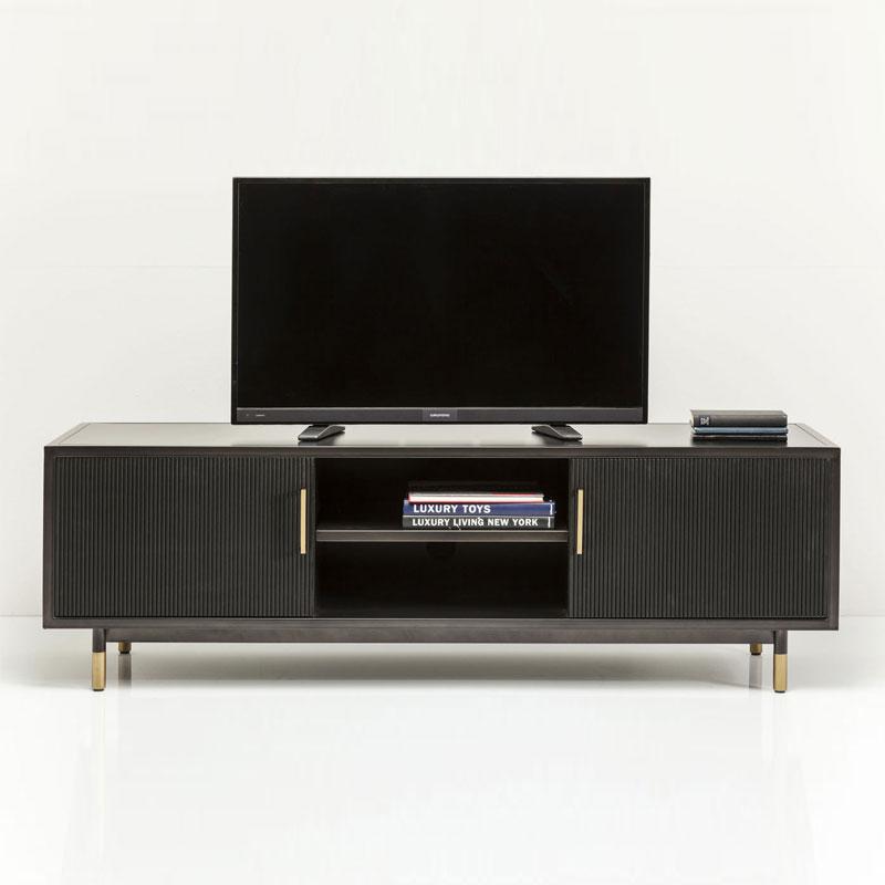 Zwarte TV-kast